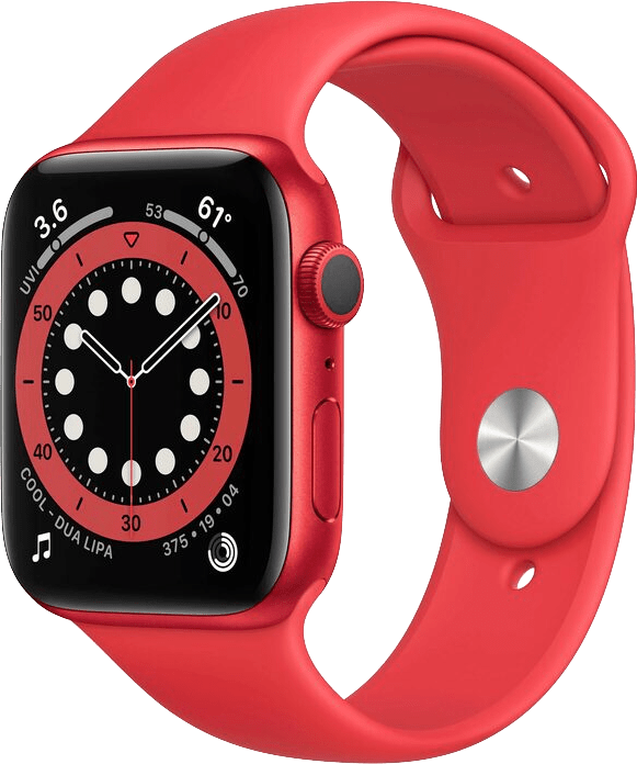 Red Apple Watch Series 6 GPS, 44mm Aluminium case, Sport band.1
