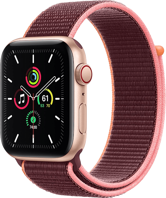 Plum Apple Watch SE GPS + Cellular, 40mm Aluminium case, Sport loop / band.1