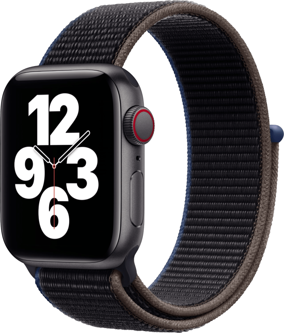 Charcoal gray Apple Watch SE GPS + Cellular, 44mm.1