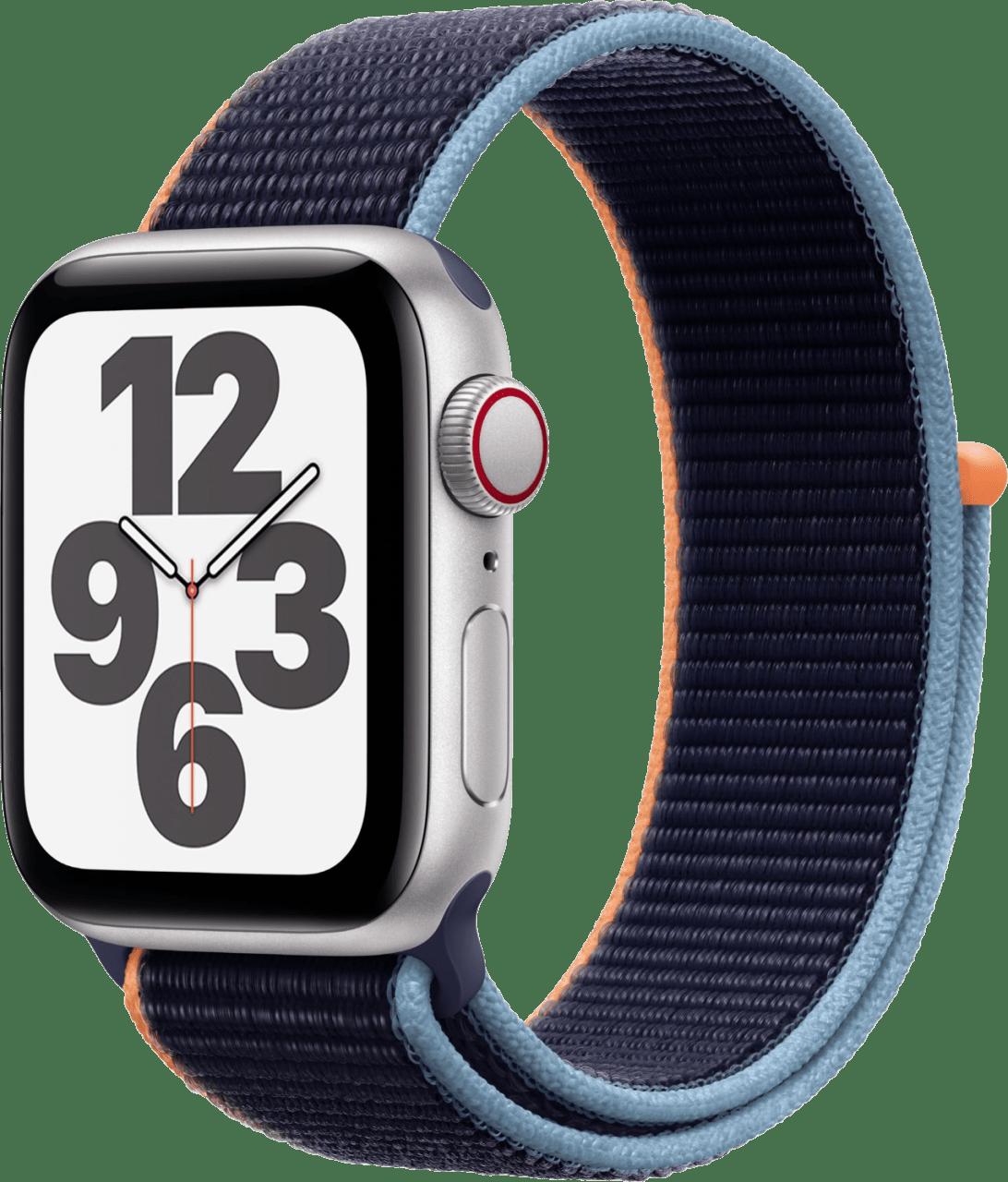 Dark marine Apple Watch SE GPS + Cellular, 44mm Aluminium case, Sport loop / band.1