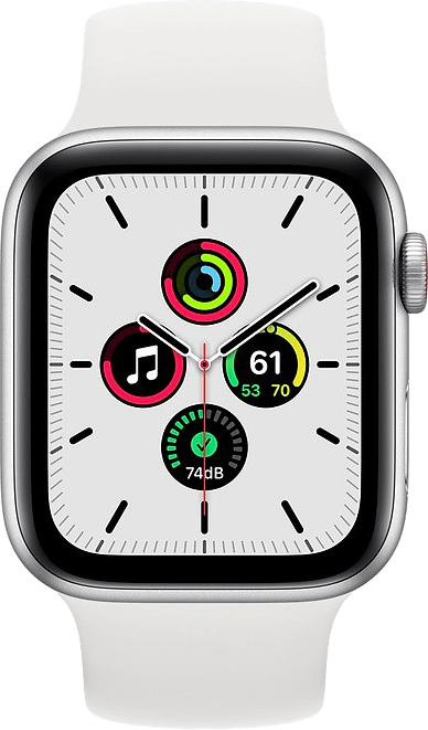 Weiß Apple Watch SE GPS, 44mm.2