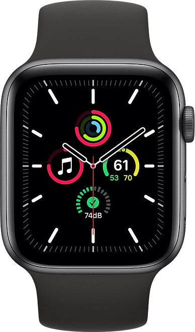 Schwarz Apple Watch SE GPS, 44mm.2