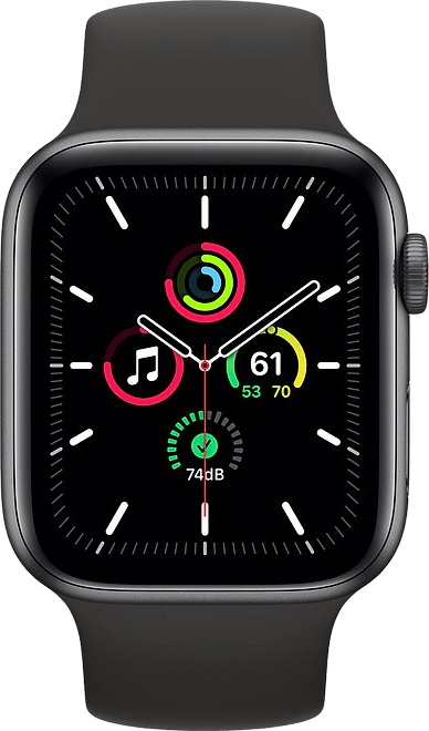 Black Apple Watch SE GPS + Cellular, 44mm.2