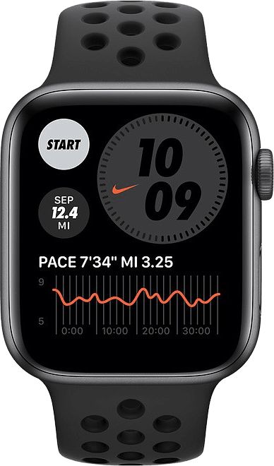 Anthrazit / schwarz Apple Watch Nike SE GPS, 40-mm-Aluminiumgehäuse, Sportarmband.2