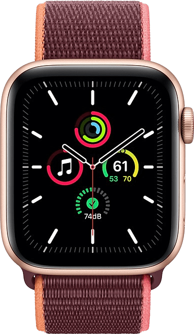 Plum Apple Watch SE GPS + Cellular, 40mm Aluminium case, Sport loop / band.2