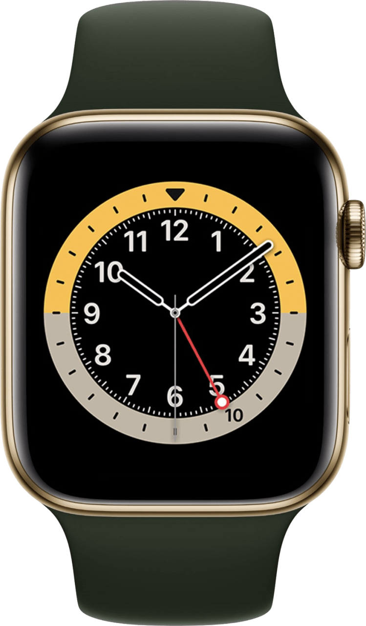 Cyprus green Apple Watch Series 6 GPS + Cellular , 40mm Stainless steel case, Sport band.2
