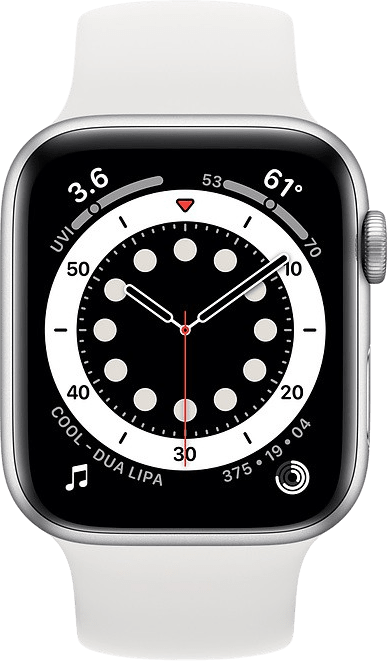 White Apple Watch Series 6 GPS, 40mm Aluminium case, Sport band.2