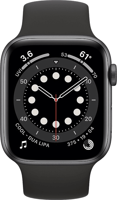 Black Apple Watch Series 6 GPS + Cellular , 40mm.2