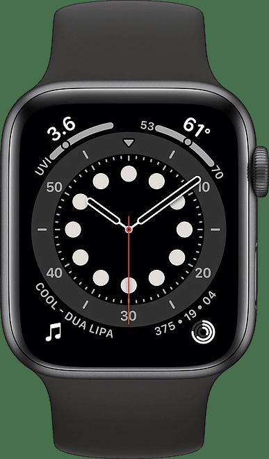 Schwarz Apple Watch Serie 6 GPS + Cellular, 40 mm Aluminium-Gehäuse, Sportarmband.2