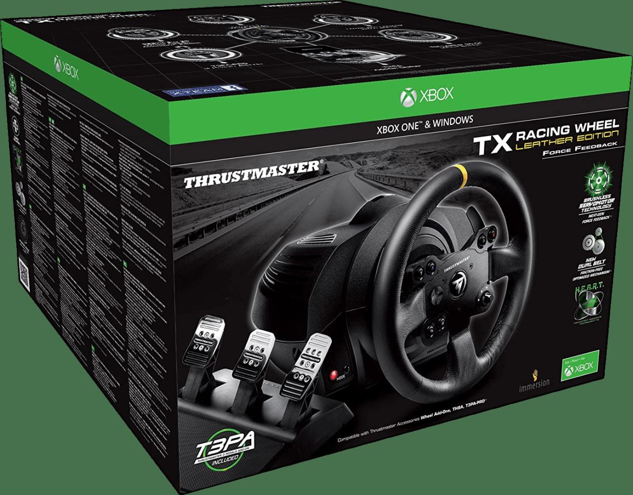 Negro Thrustmaster TX RW Leather Edition (Xbox+PC).4