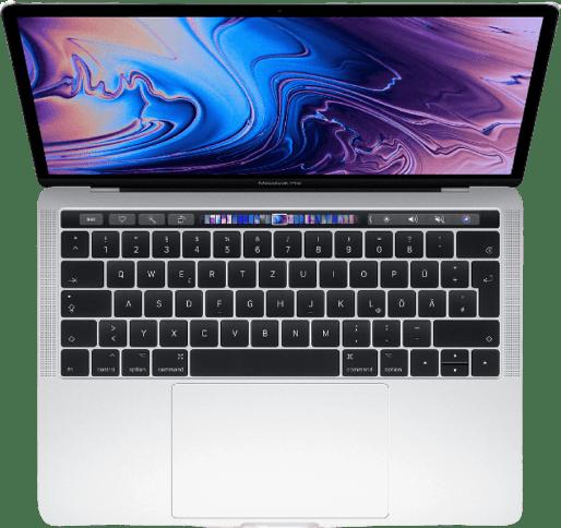 "Silber Apple 13"" MacBook Pro Touch Bar (Mid 2019) Notebook - Intel® Core™ i5-8257U - 8GB - 128GB SSD - Intel® Iris™ Plus Graphics 645.2"