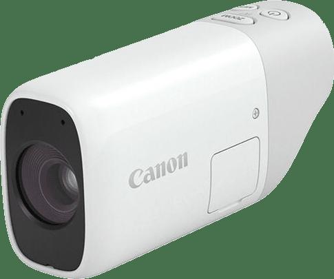 White Canon Powershot Zoom.1