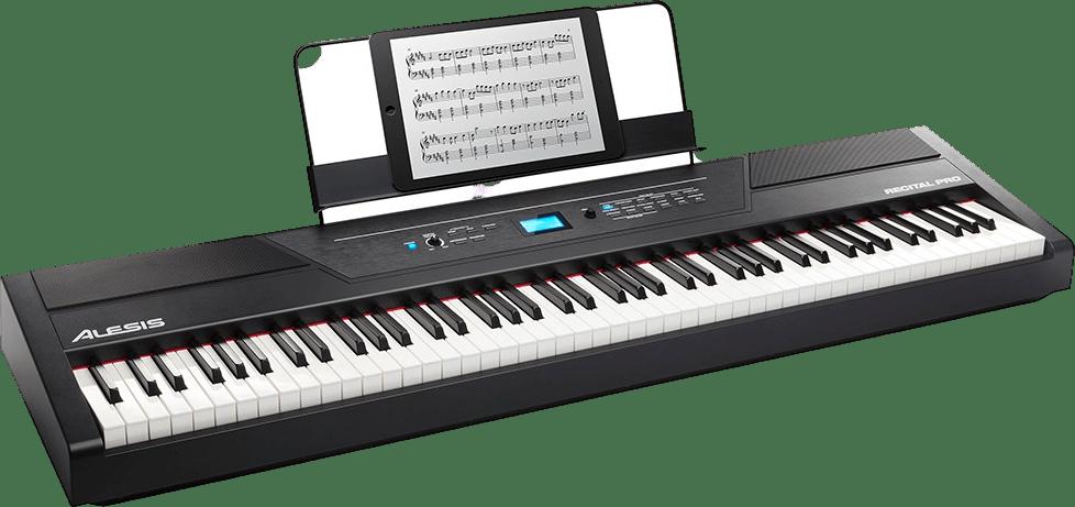 Black Alesis Recital Pro Digital Piano.1