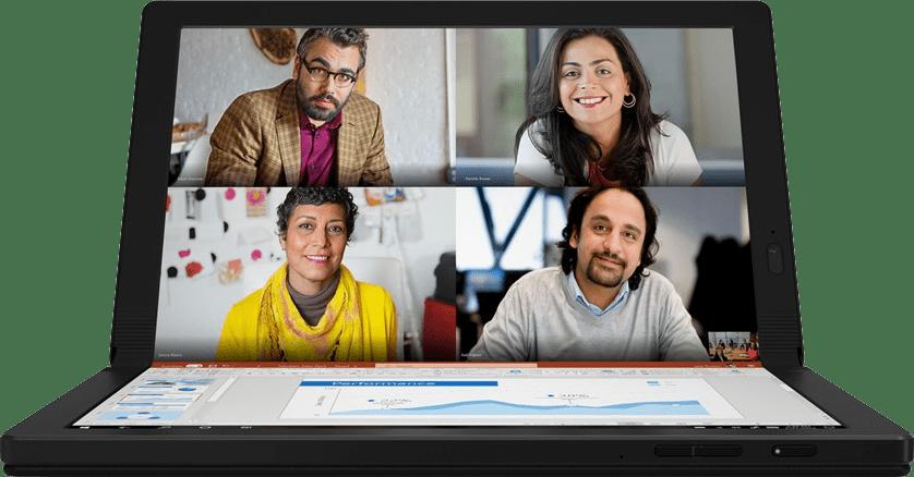 Black Lenovo ThinkPad X1 Fold Gen 1.2