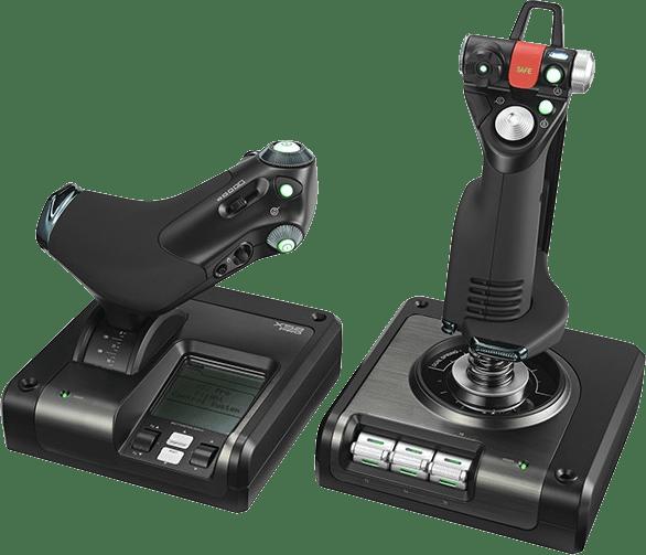 Negro Logitech Saitek X52 PRO Flight Simulator Controller.1