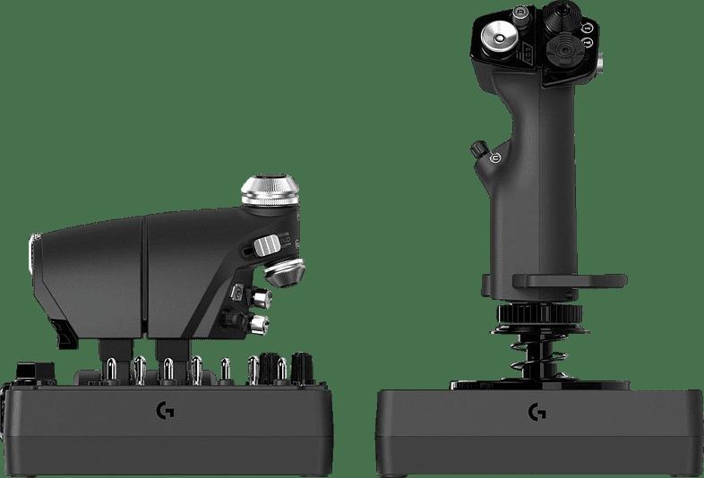 Black Logitech X56 HOTAS Flight Simulator Controller.3