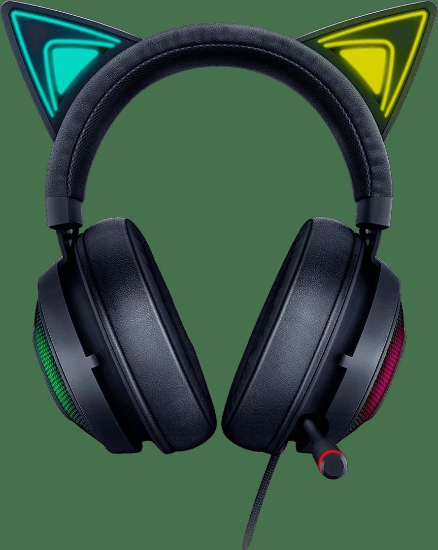 Black Razer Kraken Kitty Edition Over-ear Gaming Headphones.1