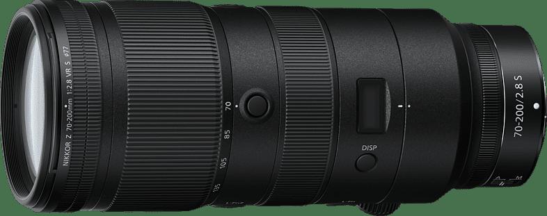 Negro Nikon Nikkor Z 70-200mm f2.8 VR S Lens.1