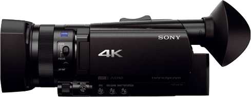 Black Sony FDR-AX700 Zeiss 4K Camcorder.2