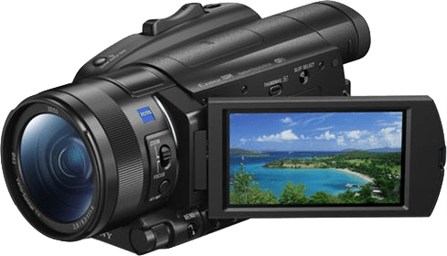 Black Sony FDR-AX700 Zeiss 4K Camcorder.3