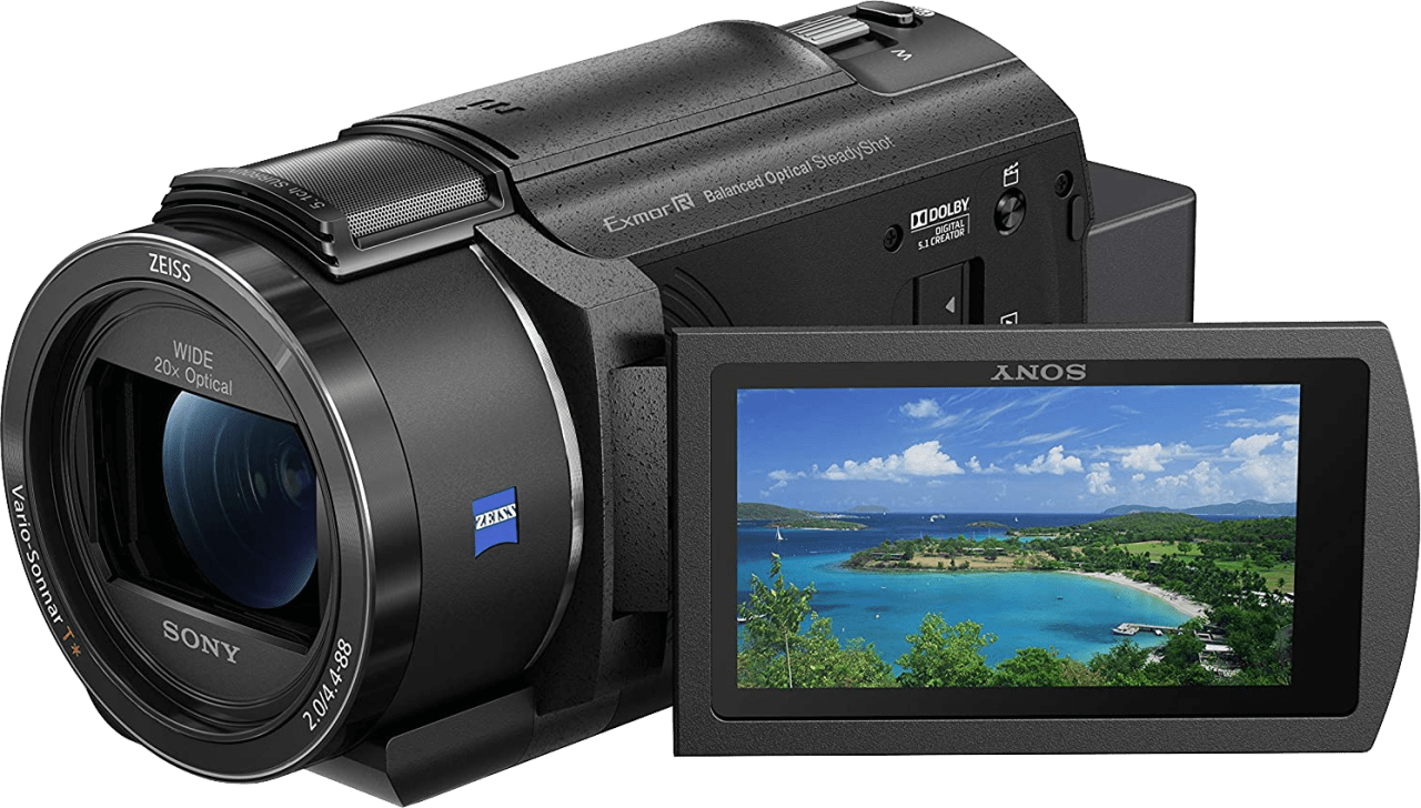 Black Sony FDR-AX43 Zeiss Compact Ultra HD Camcorder.2
