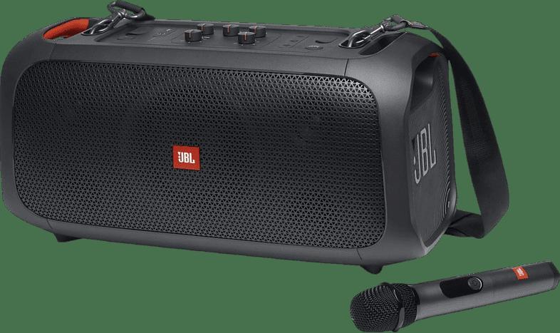 Schwarz Tragbarer Bluetooth-Lautsprecher JBL Partybox on the go.1