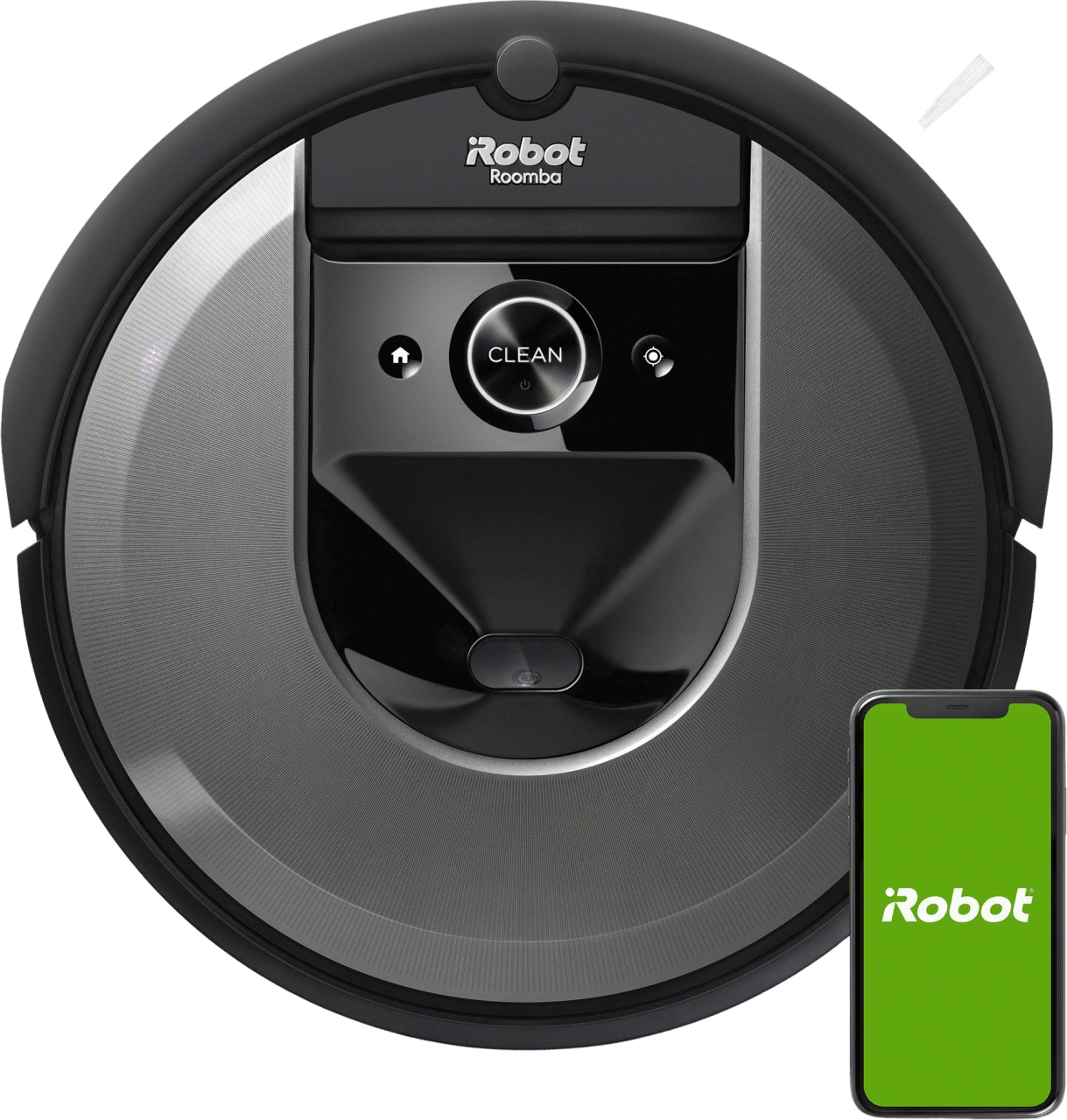 Black iRobot Roomba i7+ Vacuum Cleaner Robot with Automatic Dirt Disposal.2