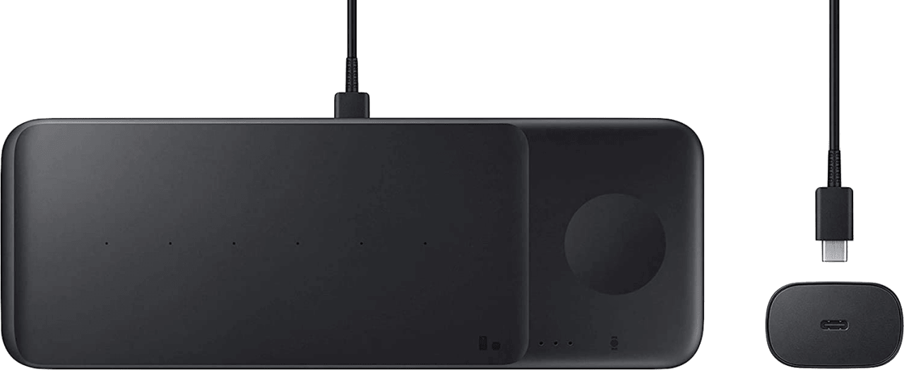 Black Samsung Wireless Charger Trio EP-P6300.2