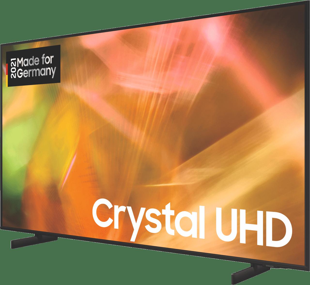 "Black Samsung TV 65"" GU65AU8079UXZG LED UHD 4K.3"
