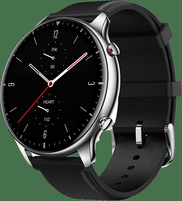 Silber Amazfit GTR 2 Smartwatch, 46mm Alumium / Edelstahlgehäuse.1