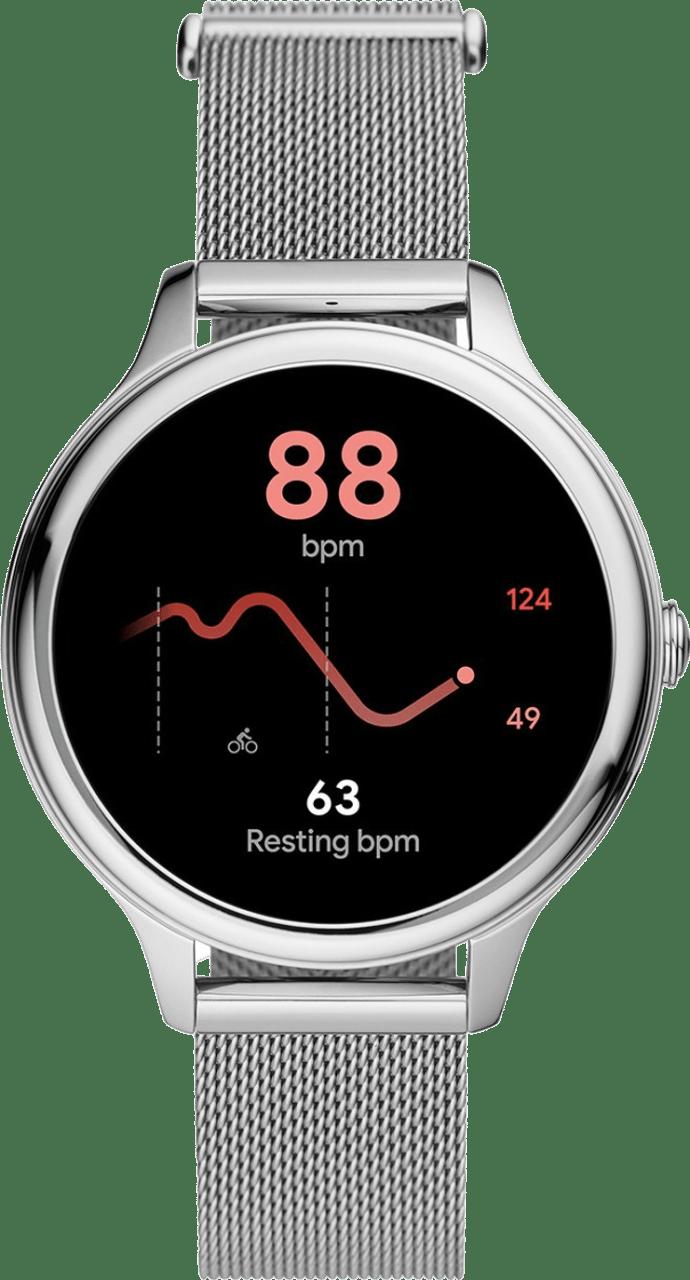 Silber Fossil Gen 5E Damen-Smartwatch, 42-mm-Edelstahlgehäuse.3