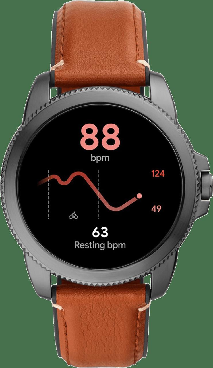 Braun Fossil Gen 5E Herren-Smartwatch, 44-mm-Edelstahlgehäuse.2
