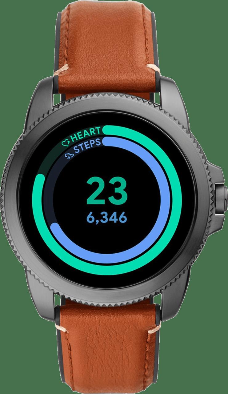 Braun Fossil Gen 5E Herren-Smartwatch, 44-mm-Edelstahlgehäuse.3
