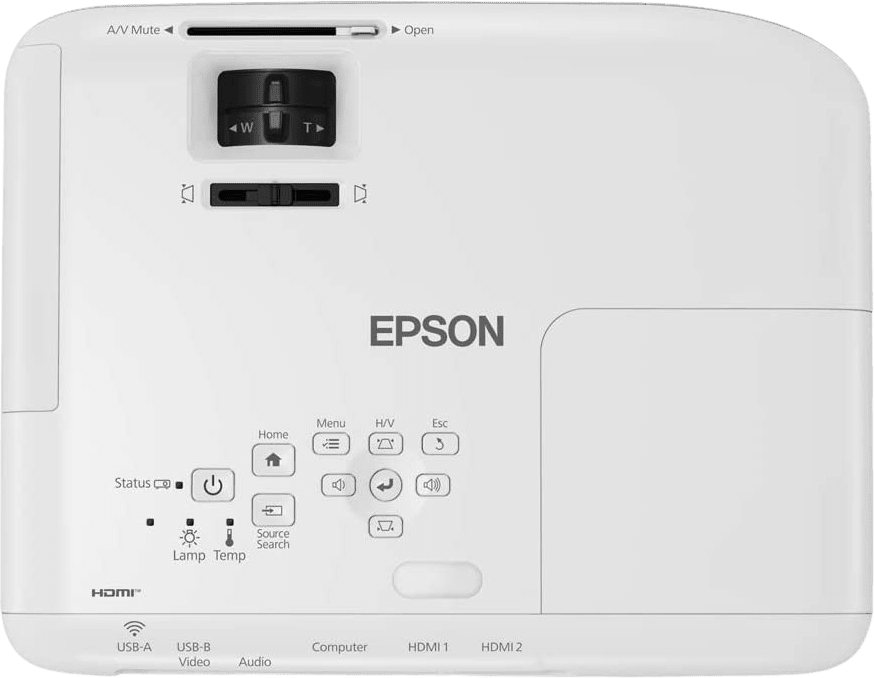 White Epson EB-FH06 Projector - Full HD.3