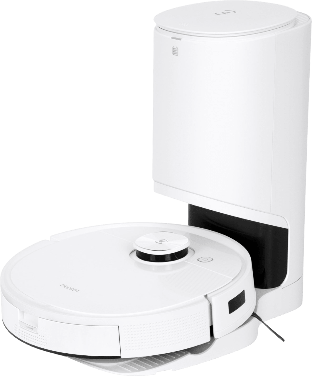 White Ecovacs Deebot T9+ Vacuum & Mop Robot Cleaner with Automatic Dirt Disposal.1