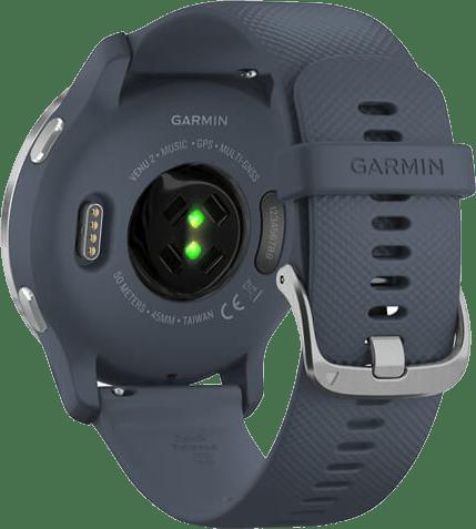 Granietblauw / Zilver Garmin Venu 2 Smartwatch, 45mm Fiber reinforced polymer case & sport band.5