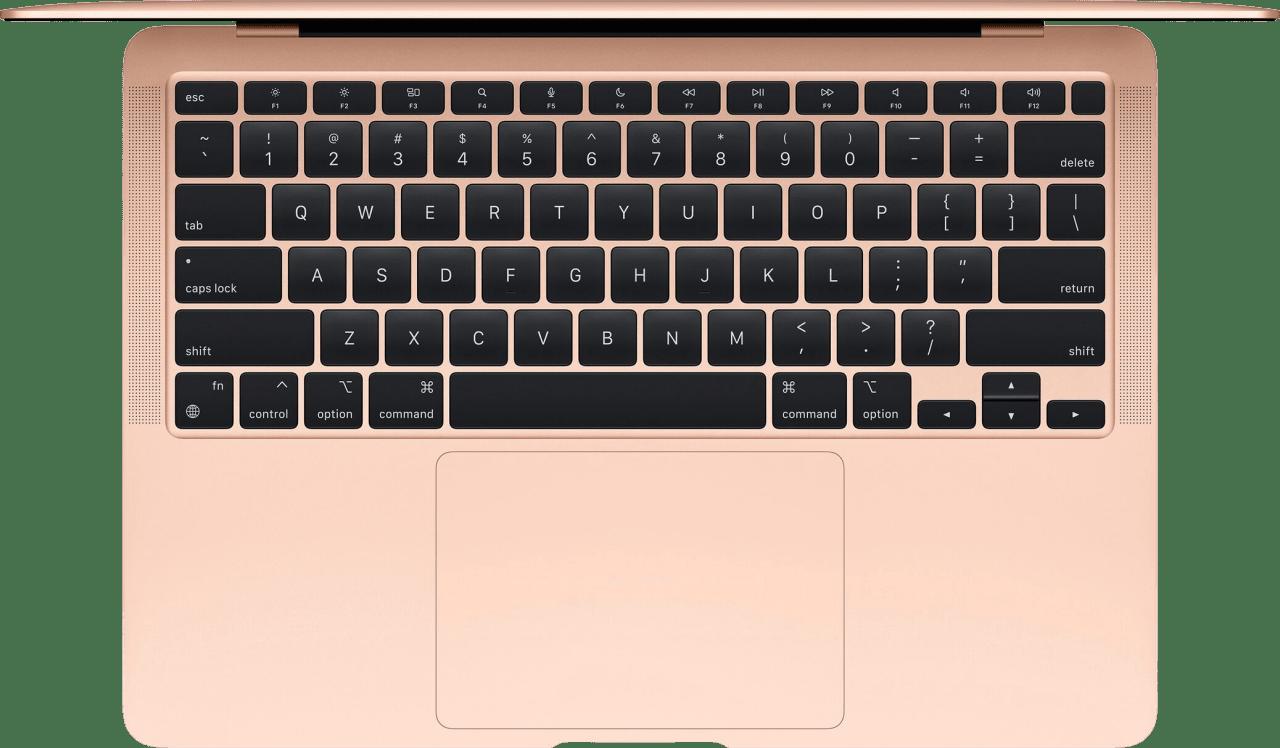 Gold Apple MacBook Air (Late 2020) - English (QWERTY) Laptop - Apple M1 - 8GB - 256GB SSD - Apple Integrated 7-core GPU.2
