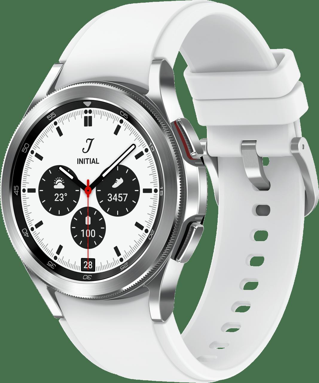 Silver Samsung Galaxy Watch4 Classic, 42mm.1