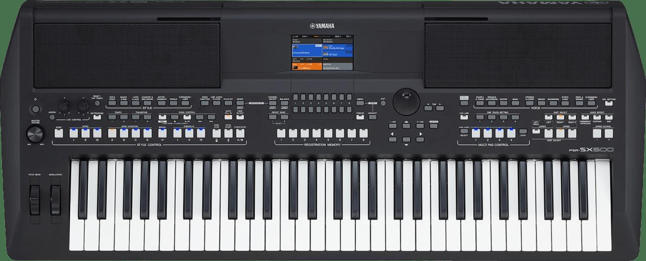 Black Yamaha PSR-SX600 61-Key Digital Workstation Piano.1