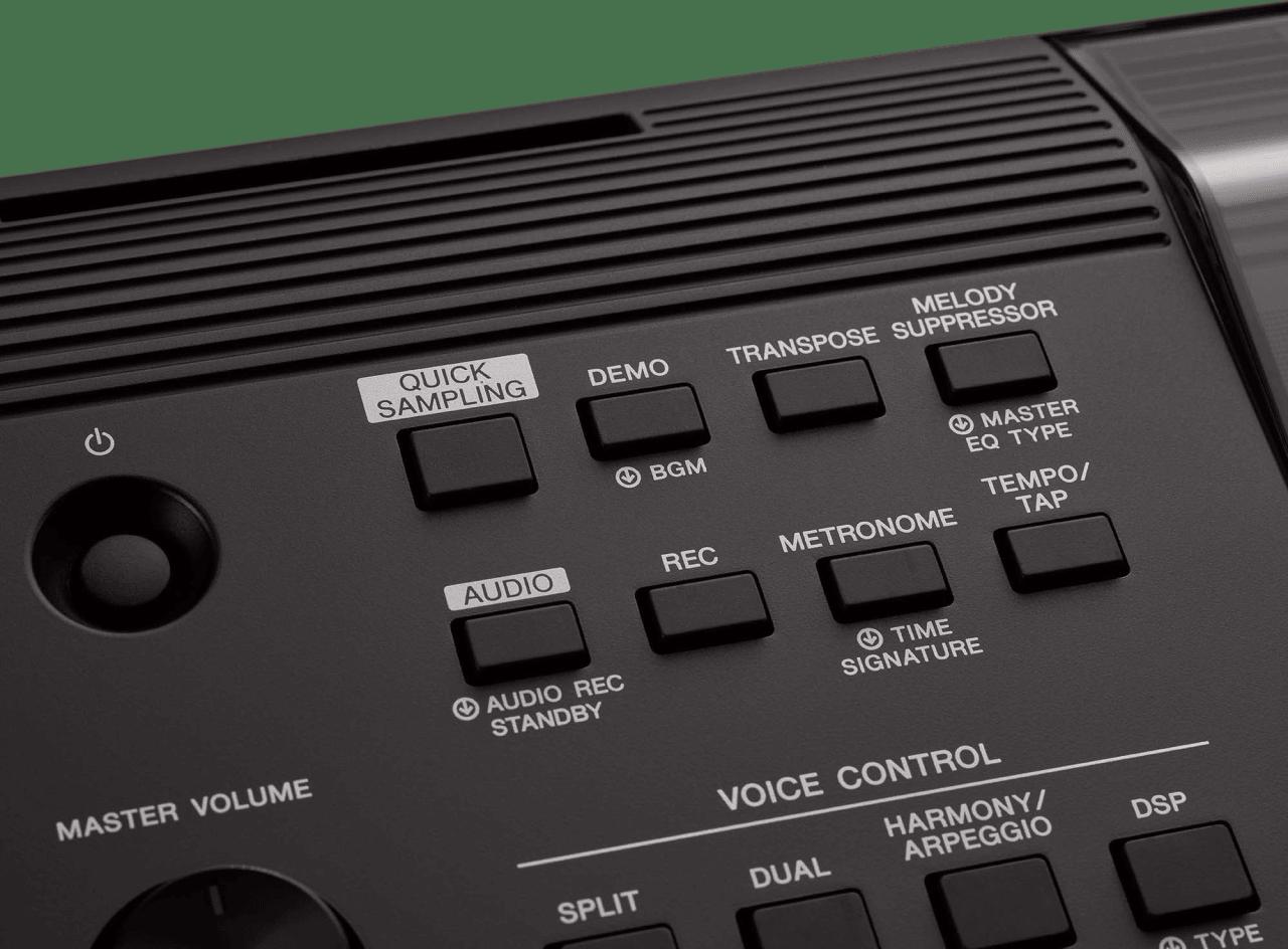 Black Yamaha PSR-EW410 76-Key Portable Keyboard.2