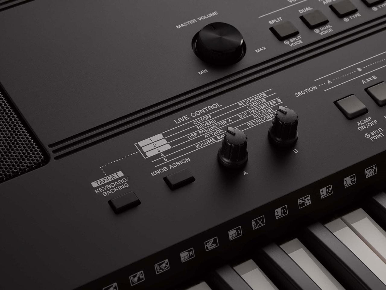 Black Yamaha PSR-EW410 76-Key Portable Keyboard.5