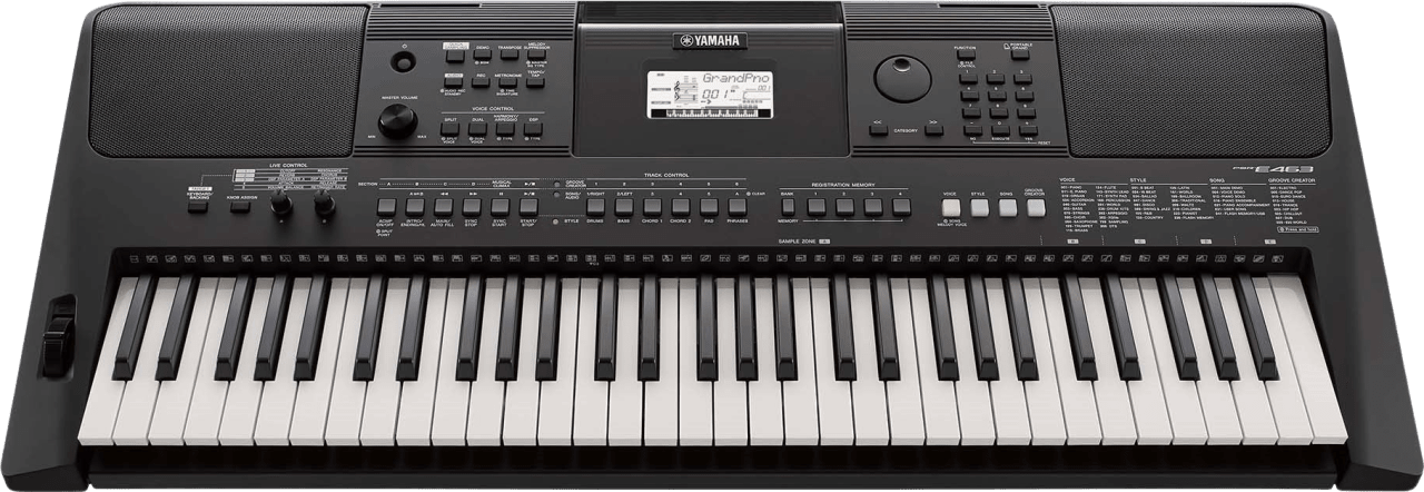 Schwarz Yamaha PSR-E463 Tragbares Keyboard mit 61 Tasten.1