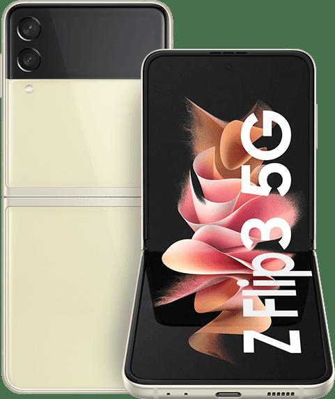 Cream Samsung Smartphone Galaxy Flip 3 - 128GB - Dual Sim.1
