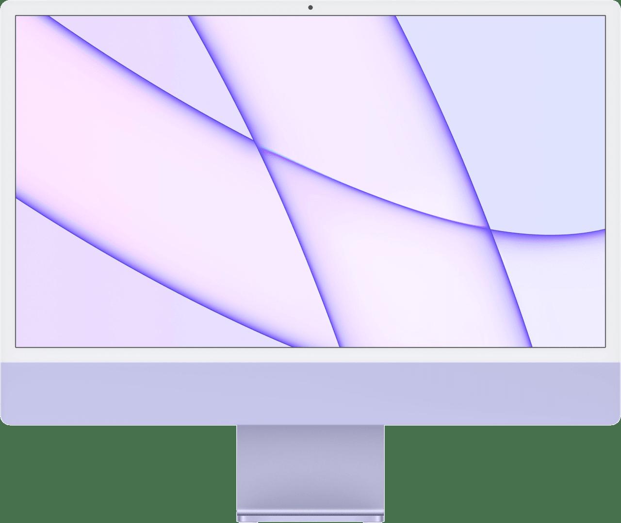 "Violett Apple 24"" iMac (Mid 2021) - English (QWERTY) All-in-One PC - Apple M1 - 16GB - 512GB SSD - Apple Integrated 8-core GPU.1"