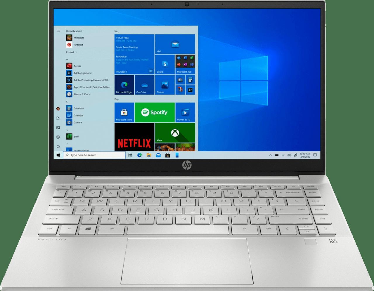 Natural Silver HP 14-ec0054ng Laptop - AMD Ryzen™ 5 5500U - 8GB - 512GB PCIe - AMD Radeon™ Graphics.1