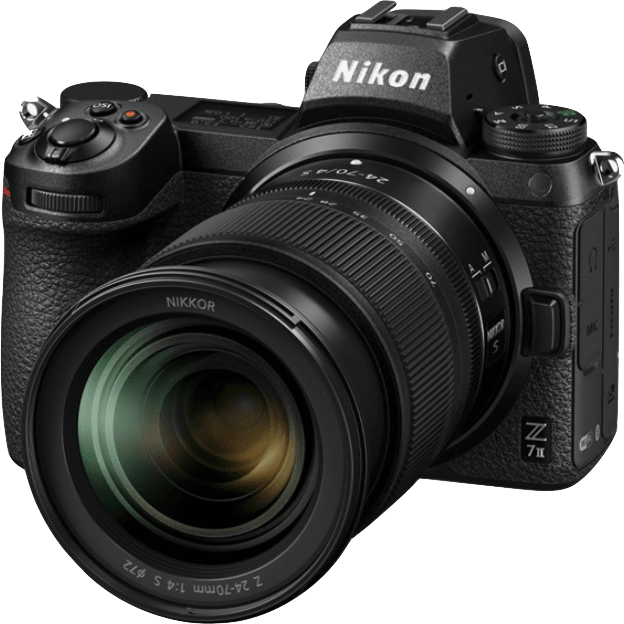 Black Nikon Z7 Camera Kit with 24-70 mm 1:4 Lens and FTZ Adapter.1