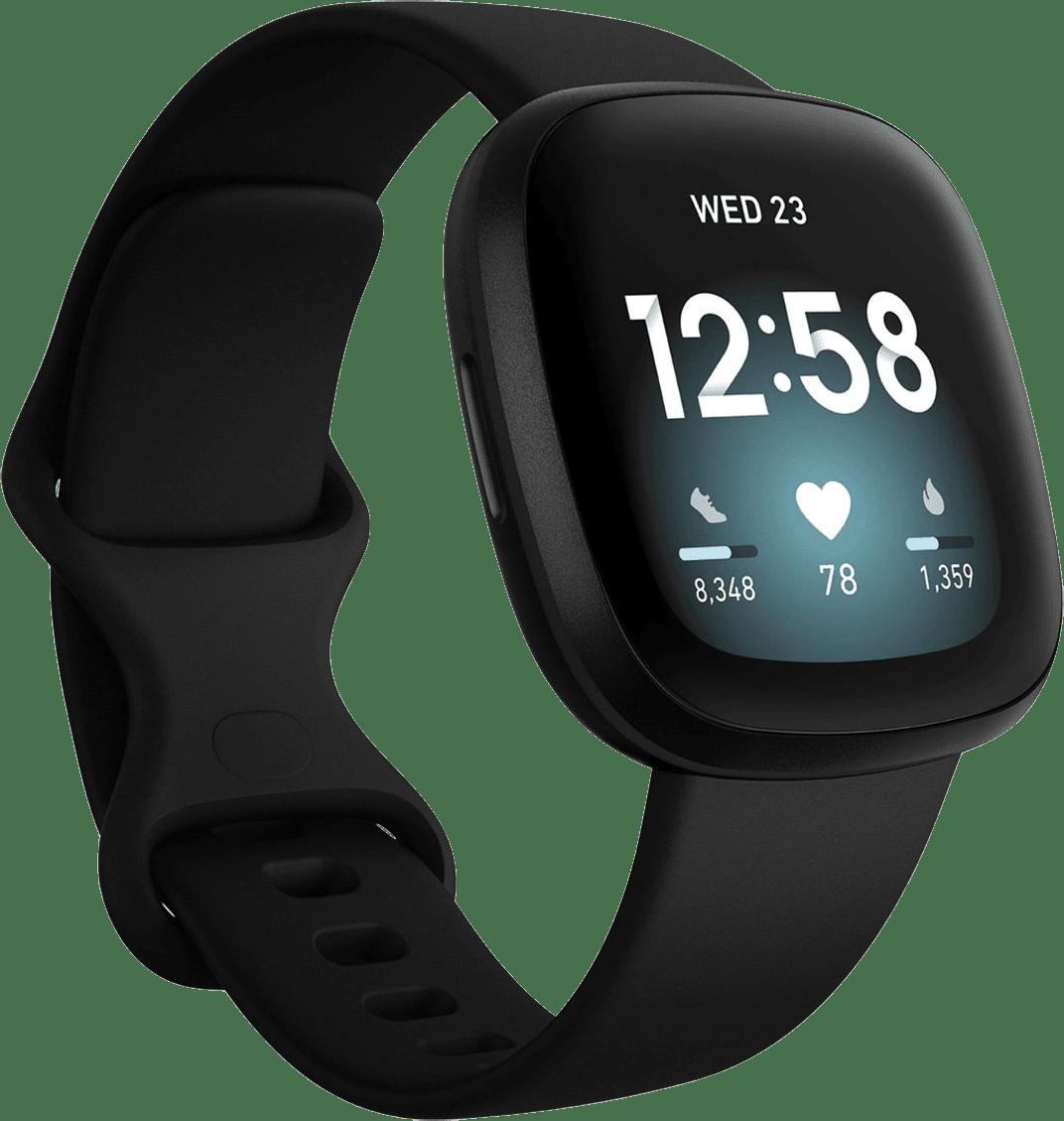 Black Fitbit Versa 3 Smartwatch.1