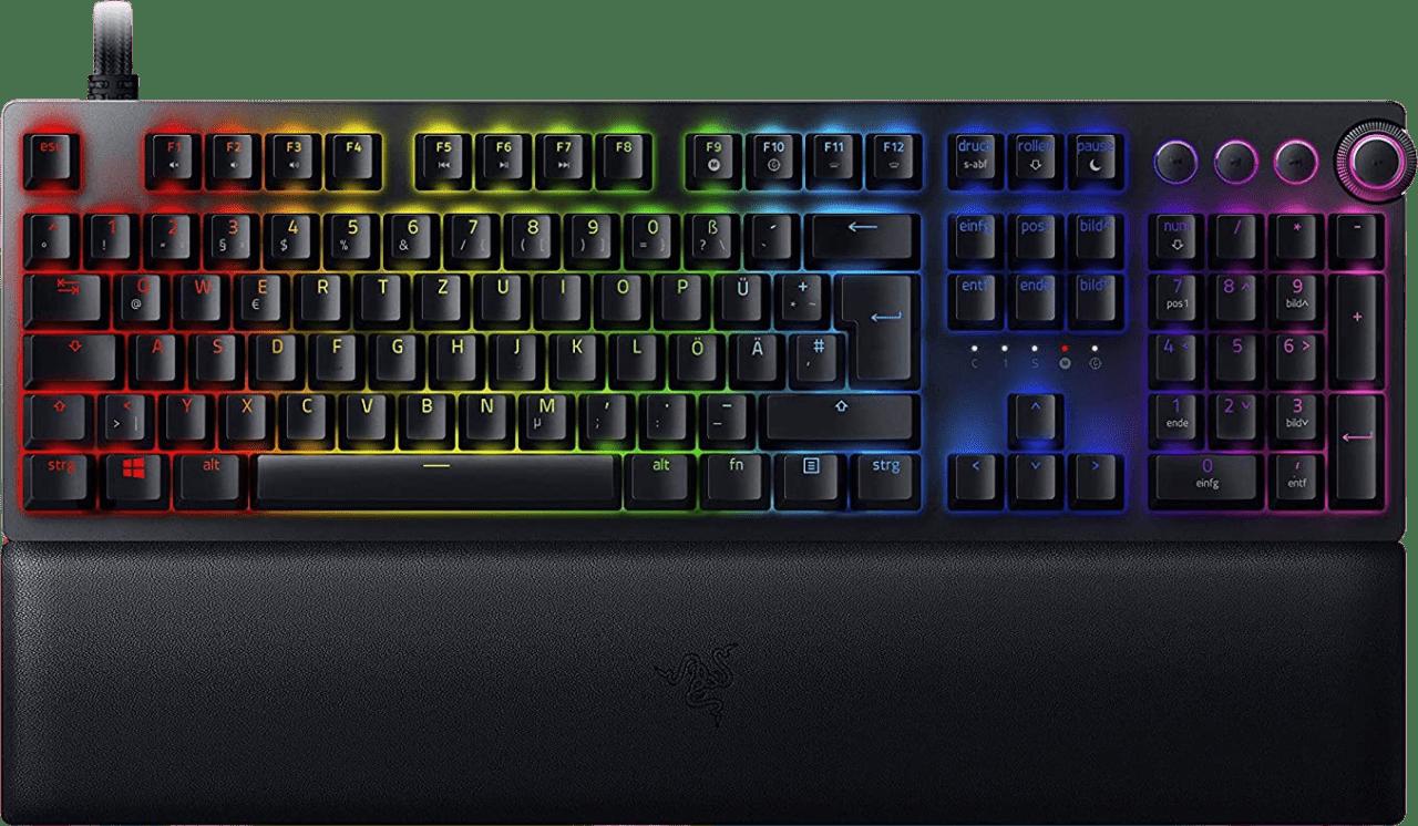 Schwarz Razer Huntsman V2 Analog Switch Tastatur.1