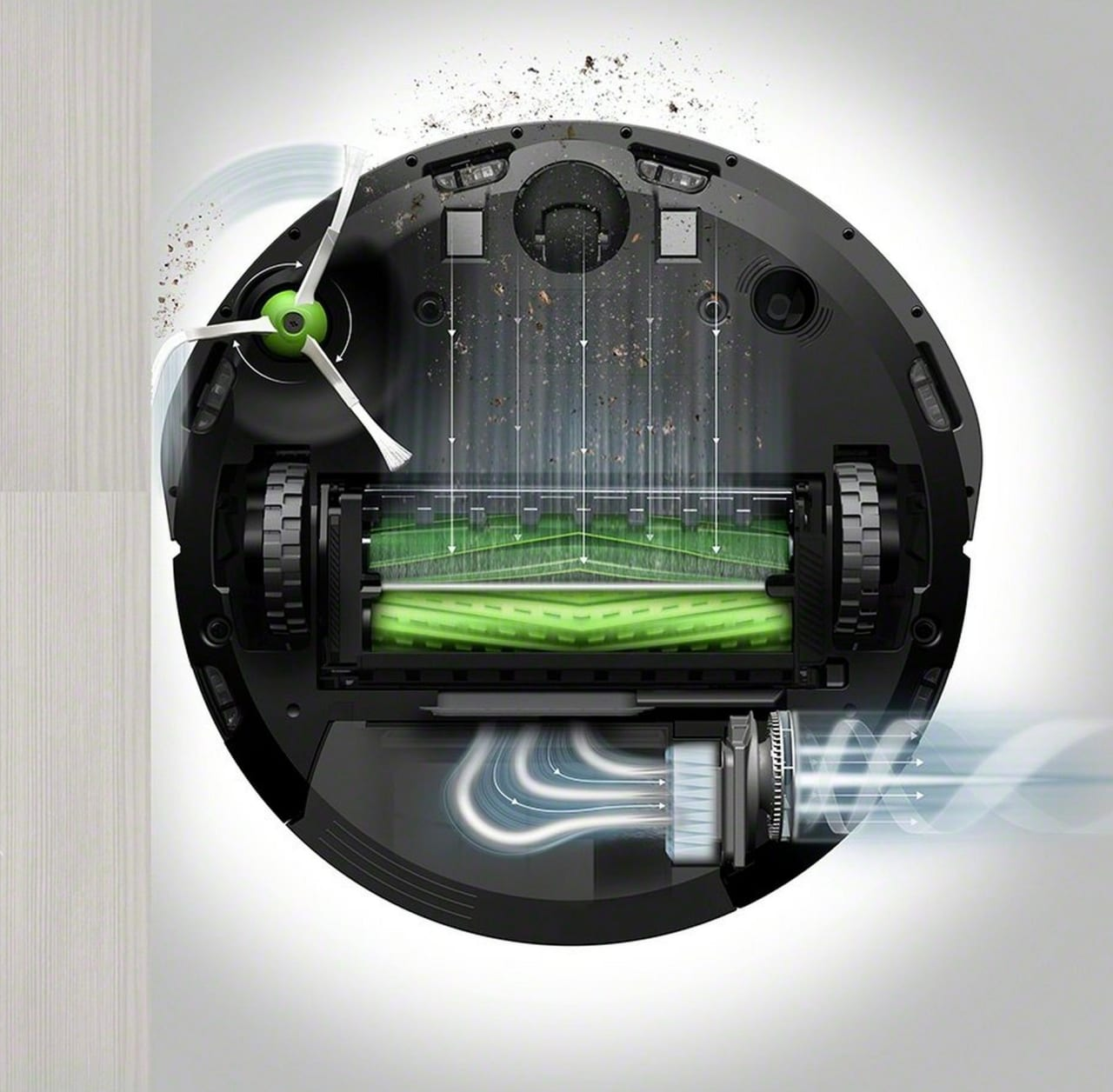 Neutral iRobot Roomba i4+ (i4558) Vacuum Cleaner Robot with Dirt Disposal Station.3