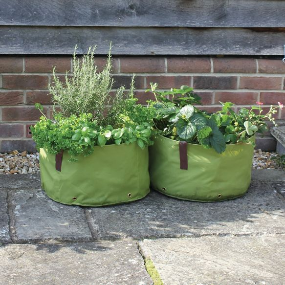 Oxford Fabric Planters - Shallow (Pack of 2)
